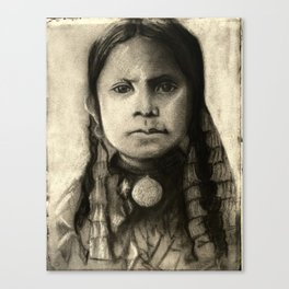 Portrait of Standing Holy Canvas Print