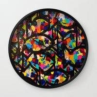 trout Wall Clocks featuring Rainbow Trout by Jordan Luckow