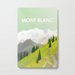 Alone In Nature - Là Haut Metal Print