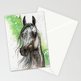 Grey arabian horse Stationery Cards
