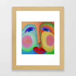 Put on a Happy Face Abstract Digital Painting Framed Art Print