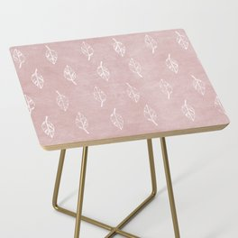 Bohemian Mauve Leaf Side Table