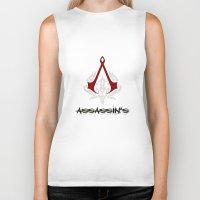 assassins creed Biker Tanks featuring Creed Assassins  by neutrone