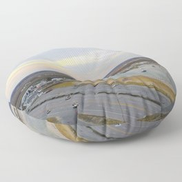 Harbor Sunset Floor Pillow