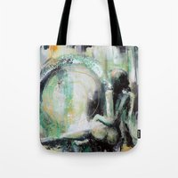 sarah paulson Tote Bags featuring Sarah by Andrea Creates