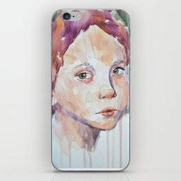 Green eyes iPhone Skin