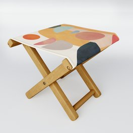 Modern Abstract Art 70 Folding Stool