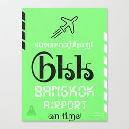 BKK Bangkok airport code Canvas Print