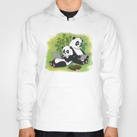 pandas Hoodies featuring Pandas by Lisidza's art