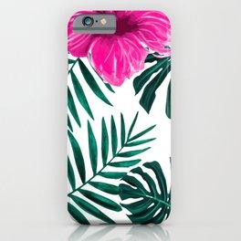 Malvaceae Mallows Pattern Decoration iPhone Case