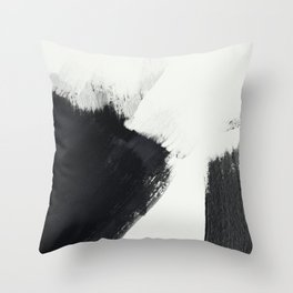 brush stroke black white painted II Throw Pillow