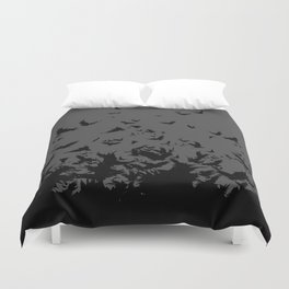 An Unkindness of Ravens (Grey) Duvet Cover