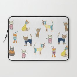 Cats in sweaters Laptop Sleeve
