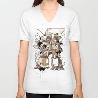gundam V-neck T-shirts featuring Gundam Style by RiskeOne opc