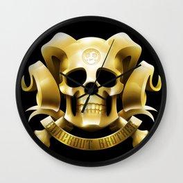 Golden Emblem Wall Clock