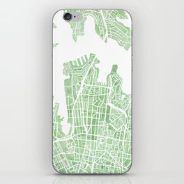 Sydney Australia watercolor city map iPhone Skin