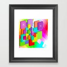 Blocked View Framed Art Print