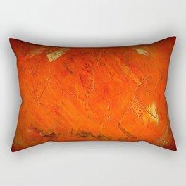 Italian Style Orange Stucco - Adobe Shadows Rectangular Pillow