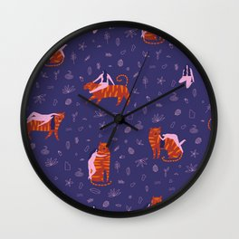 Night safari Wall Clock