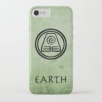 airbender iPhone & iPod Cases featuring Avatar Last Airbender Elements - Earth by bdubzgear