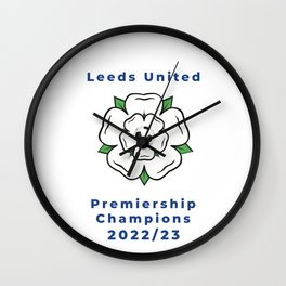 Leeds United Premiership Champions 2022/23 Wall Clock