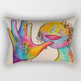 American Sign Language MOTHER Rectangular Pillow
