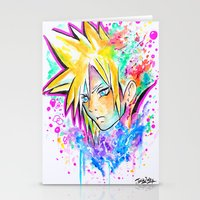 playstation Stationery Cards featuring Original - CLOUD STRIFE - Watercolor Painting - Playstation by Jonny Clingan