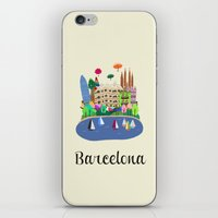 barcelona iPhone & iPod Skins featuring Barcelona  by uzualsunday