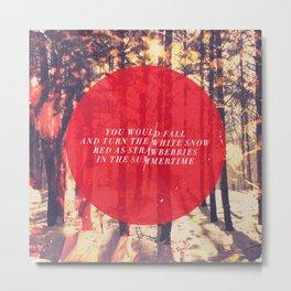 Fleet Foxes - White Winter Hymnal Metal Print
