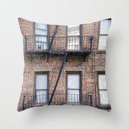 New York Fire Escape Throw Pillow