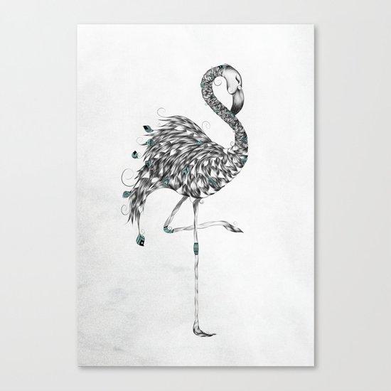 Poetic Flamingo Canvas Print