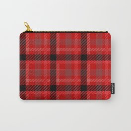 Red And Black Plaid Flannel Carry-All Pouch