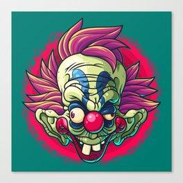 Killer Clown Canvas Print