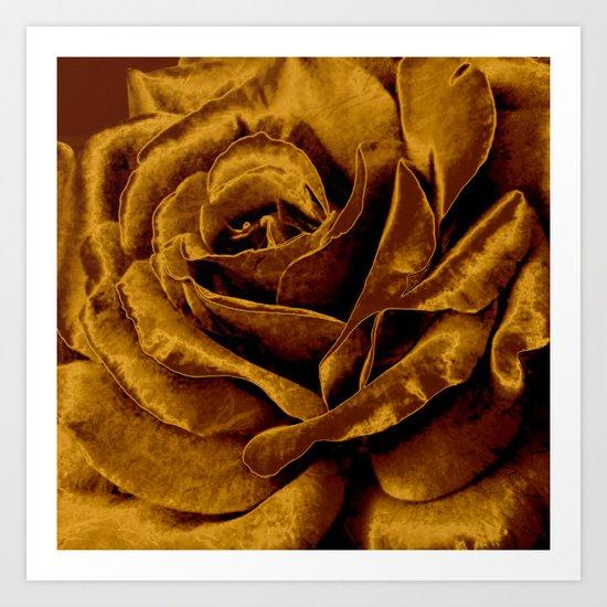 copper velvet rose Art Print