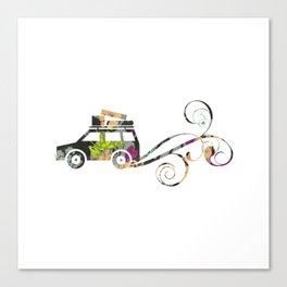 Cute Car Fabric art Canvas Print