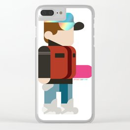 Marty Deconstructed Clear iPhone Case
