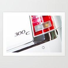 Chrysler 300C Back Light Art Print