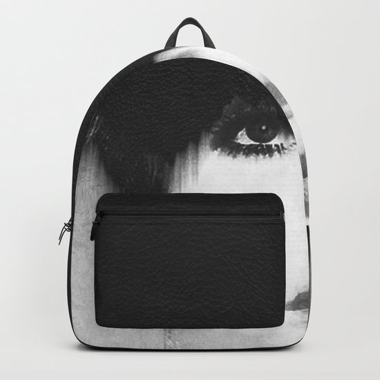 WOMEN (PORTRAIT) BLACK AND WHITE Backpack