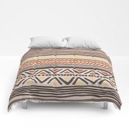 Hand Drawn Ethnic Pattern Comforters