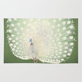 Peacock, Ohara Koson - Japanese Woodcut Rug