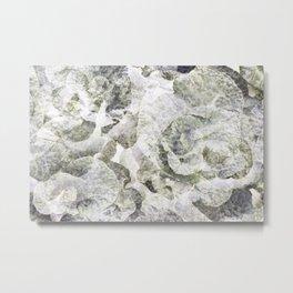 White and Green Foliage Metal Print