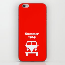 Summer 1969 - red iPhone Skin