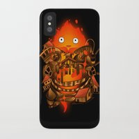 pocket iPhone & iPod Cases featuring Pocket Calcifer by Natalie