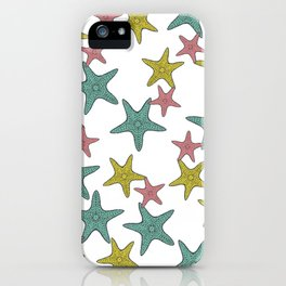 starfish tropical print iPhone Case