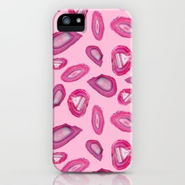 Pink Agate Pattern iPhone Case