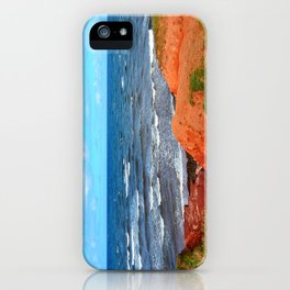 Rolling Waves in East Point PEI iPhone Case