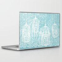 aelwen Laptop & iPad Skins featuring Hang in there.  by Elena O'Neill