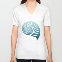 random V-neck T-shirts featuring Random by Carl Christensen
