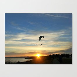 Sunset Paraglider Canvas Print