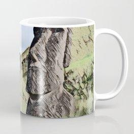 Chile Easter Island Moais Ahu Tongariki Artistic Illustration Colored Sketch Coffee Mug